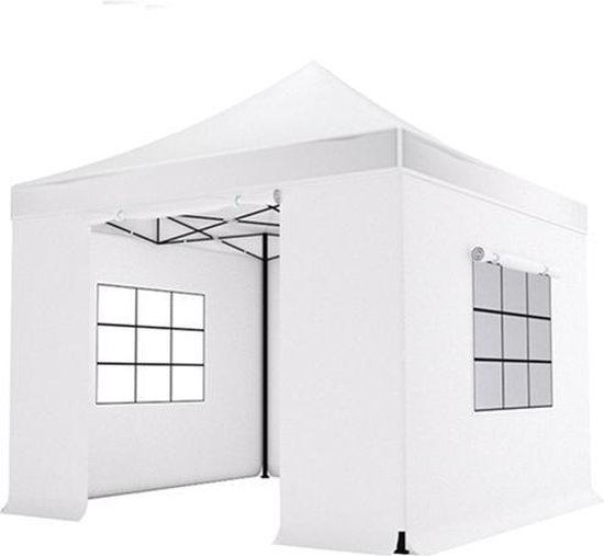 Easy up 3x3m zwart luxe partytent Koop een partytent.nl