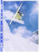 Stop Doc® Pak van 100 geperforeerde showtassen -hoekopening - gladde PP 6/100ste - A4, Transparant