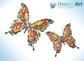 Barcino design barcelona mozaiek vlinder muurhanger multi-colored 15 cm