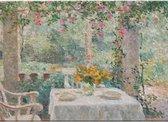 Placemat: Terras in een tuin te Laren, Evert Pieters, Singer Laren