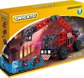 Twickto constructiespeelgoed - bouwset - brandweerwagen helikopter en auto - 89 delig - Emergency #1