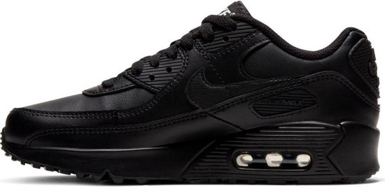 | Nike Air Max 90 Leather GS Zwart Kinder Sneaker