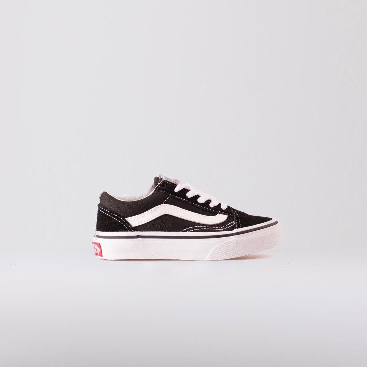 Vans Old Skool Sneakers Kinderen - Black/True White - Vans