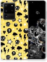 Samsung Galaxy S20 Ultra Silicone Back Case Punk Yellow