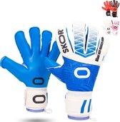 Keepershandschoenen BANKS - Blauw/wit - Maat 10