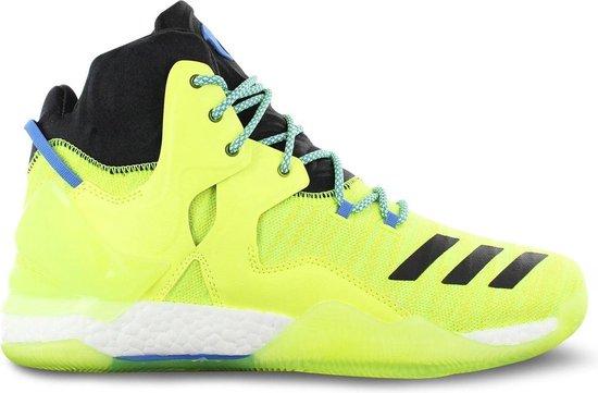 adidas Derrick D Rose 7 Primeknit AQ7215 Heren Basketbalschoenen Sportschoenen Sneaker Gelb - Maat EU 50 UK 14