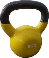Kettlebells 6 kg gietijzer - Geel | 1 stuk | Mambo Max | Gietijzer