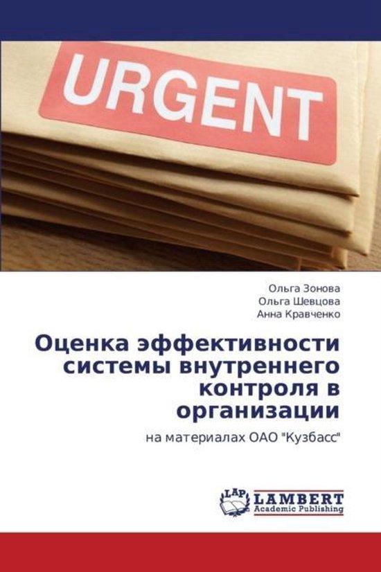 Otsenka Effektivnosti Sistemy Vnutrennego Kontrolya V Organizatsii