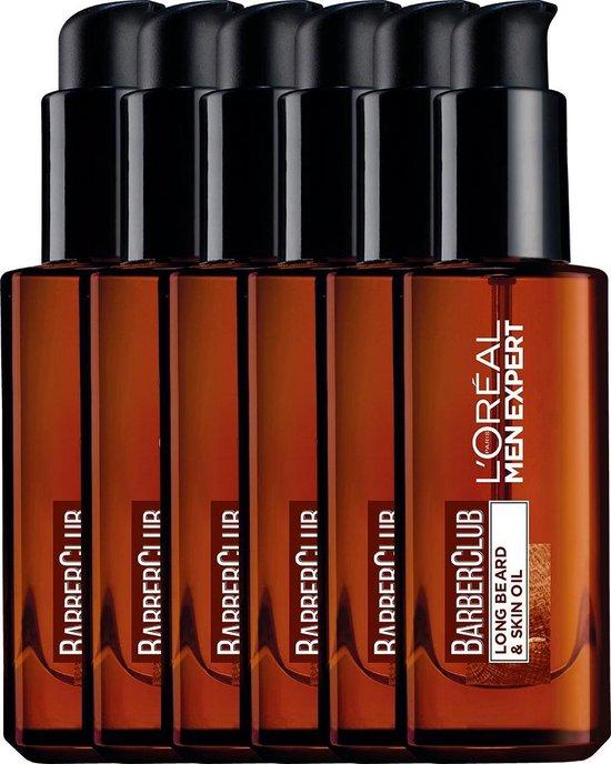 L'Oréal Paris Men Expert BarberClub Baardolie - Voor Lange Baard en Huid - 6 x 30 ml - Multiverpakking