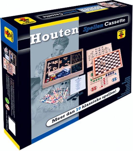 Longfield Games Meerspellen Cassette - Hout