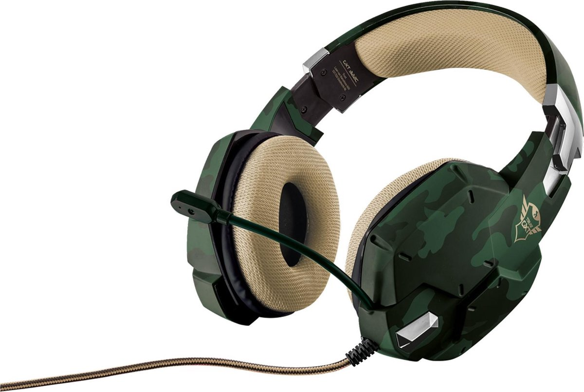 Trust GXT 322C Carus Gaming Headset - Camouflage - PS4, PS5 en PC