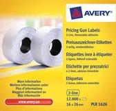Avery etiketten voor prijstang non-permanent