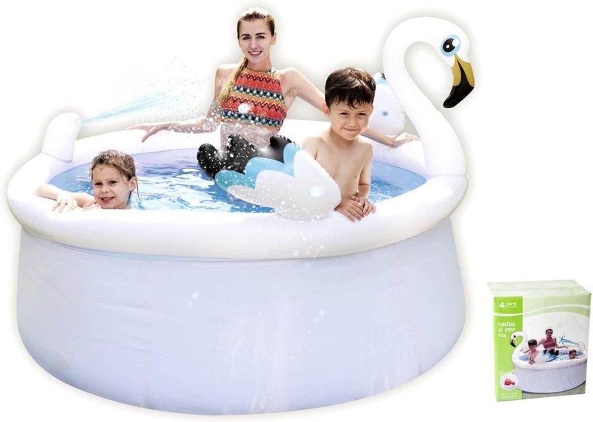 Zwembad met sproeier - Flamingo - 175cm