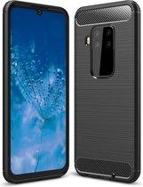 Rugged TPU hoesje voor Motorola One Zoom - zwart