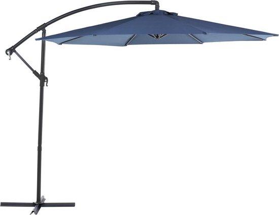 Beliani Parasol Ravenna antraciet - Metaal