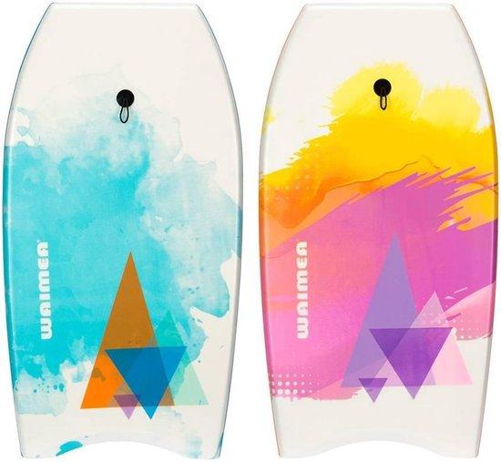 Waimea Bodyboard Print - Slick Board - Wit/Oranje/Paars