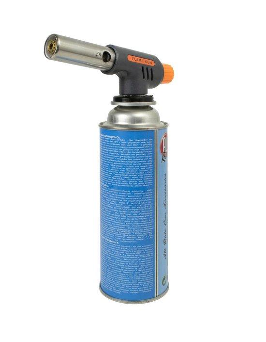 Gasbrander + 1 Gasfles - Aansteker - Creme Brulee Brander - Soldeer - Keukenbrander - Camping