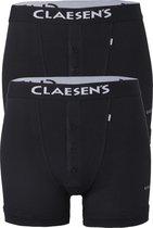 Claesen's Basics boxers (2-pack) - retro rib heren boxers met gulp - zwart -  Maat: L
