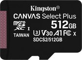 Kingston Technology Canvas Select Plus flashgeheugen 512 GB SDXC Klasse 10 UHS-I