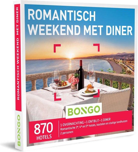 Bongo Bon Nederland - Romantisch Weekend met Diner Cadeaubon - Cadeaukaart cadeau voor koppels | 870 romantische hotels