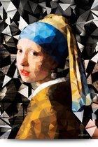 Meisje met de Parel Glasschilderij 120x80 - Johannes Vermeer