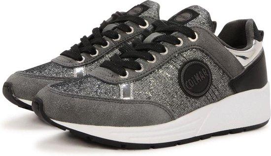 Colmar Travis Punk 140 Zilveren Sneaker – Damesschoenen – Maat: 36