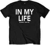 The Beatles - In My Life heren unisex T-shirt met rug print zwart - XL