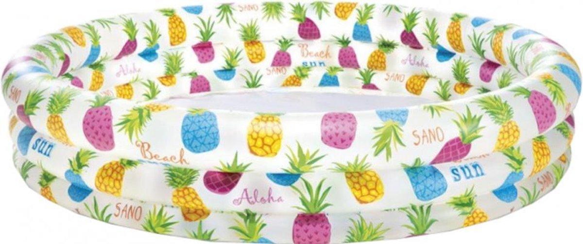 opblaaszwembad ananas 59431NP 132 x 28 cm PVC wit