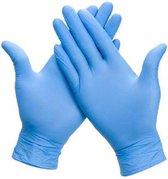 100x Nitril (Nitrile) Wegwerp Handschoenen - Blauw - Latex vrij - Ongepoederd - Maat L