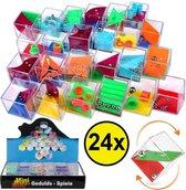 Decopatent® Uitdeelcadeaus 24 STUKS Geduldspelletjes Kubus - Traktatie Uitdeelcadeautjes voor kinderen - Klein Speelgoed Traktaties