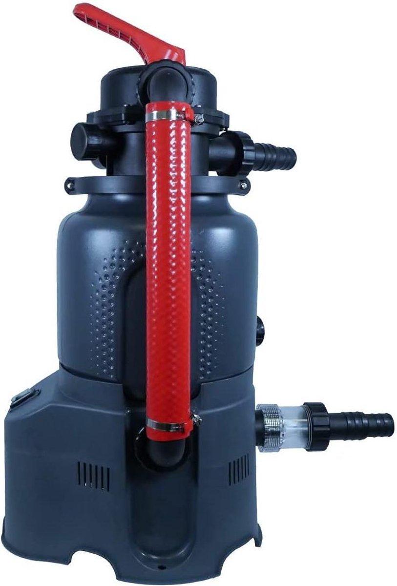 zwembad filter -well2wellness® azuro pool zandfiltersysteem 2 m³ / h met circulatiepomp voor zwembaden tot 8 - 10 m³ - (WK 02123)