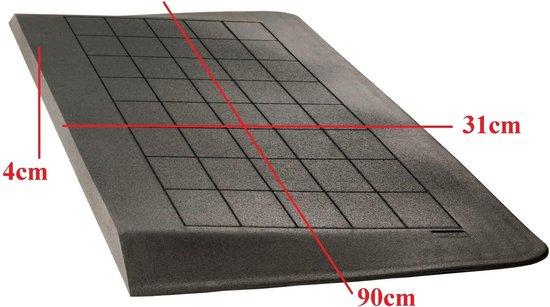 Roege international Drempelhulp 4 cm zwart 310 mm x 900 mm