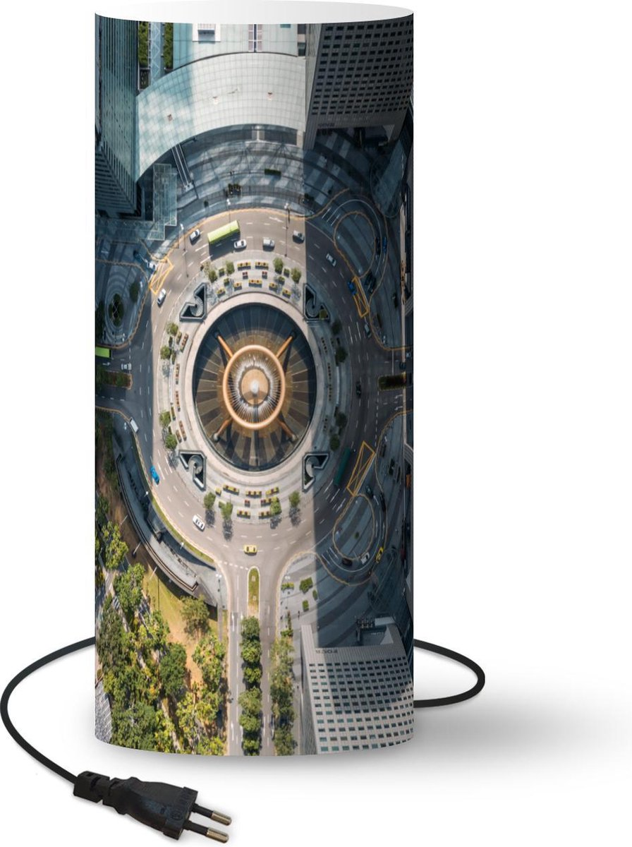 Lamp Fontein - Architectuur - Singapore - 33 cm hoog - Ø14 cm - Inclusief LED lamp