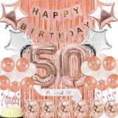 La Gabriela - 50 jaar verjaardag set - 41 Stuks - Sarah - Verjaardag - Vrouw - 50 Years Old - Cake Topper - Ballonnen