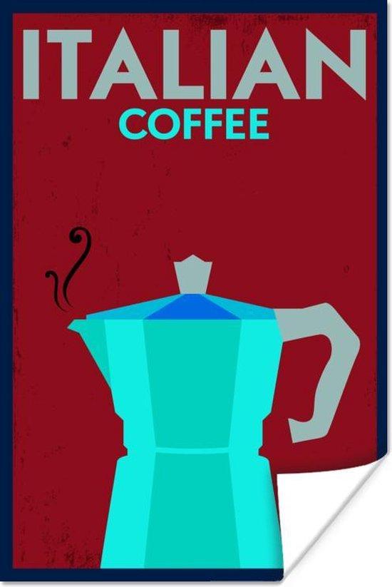 Poster Italië - Vintage - Koffie - 60x90 cm