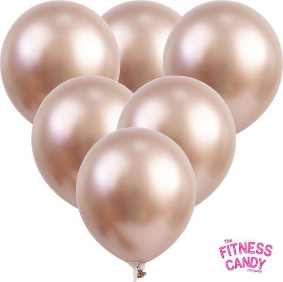 Metallic Ballonnen Rosé Goud - Set van 6