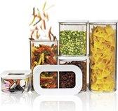 Mepal – Starterset bewaardoos Modula – 5-delig – wit – bewaardozen voedsel – voorraaddozen - stapelbaar