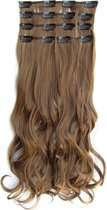 Clip in hairextensions 7 set wavy bruin - 6A#