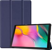 Samsung Galaxy Tab A 10.1 (2019) hoes - Tri-Fold Book Case - Donker Blauw