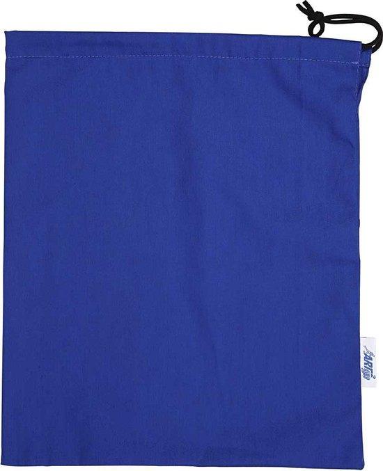 Schoenenzak. blauw. H: 42 cm. B: 35 cm. 1 stuk