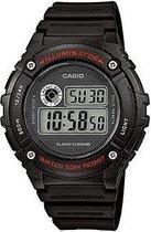 Casio Collection W-216H-1AVEF - Horloge - 45 mm - Kunststof - Zwart