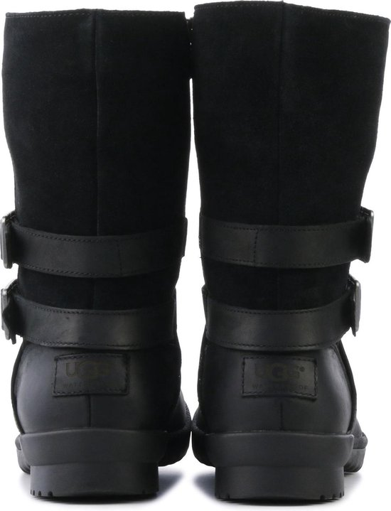UGG Vrouwen Enkellaarsjes 2 gesp vacht booty Zwart Maat 36