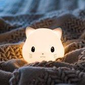 Nachtlampje kinderen -  Dimmer - Timer - Oplaadbaar - Led - Poes - Babykamer