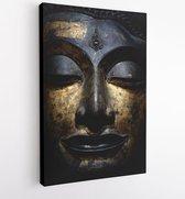 Head of Buddha, Ayutthaya style, 16 th century 500 years ago, National Museum Bangkok Thailand - Modern Art Canvas - Vertical - 1144258574 - 80*60 Vertical
