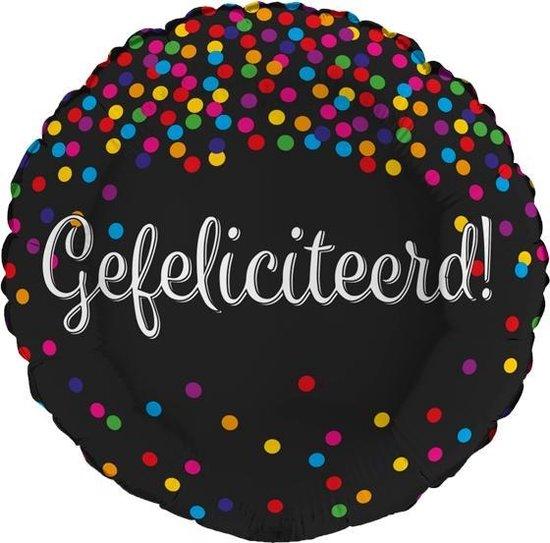 Folieballon Gefeliciteerd glitter holografisch | Verjaardag