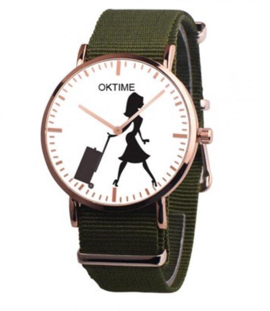 Hidzo Horloge Oktime Reizen Ø 41 – Groen