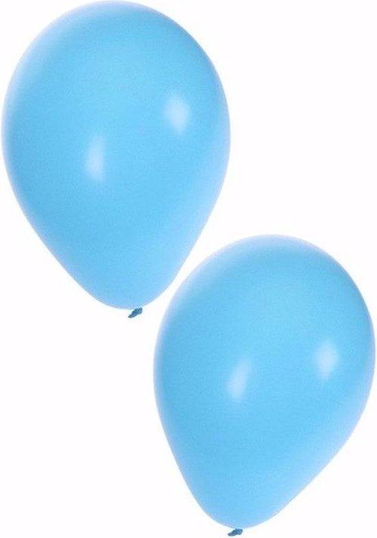 50x stuks lichtblauwe ballonnen 25 cm - Geboorte - Jongen geboren - Babyshower - Feestartikelen/versieringen