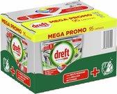Dreft Platinum Plus All In One Lemon - 95 stuks - Vaatwastabletten