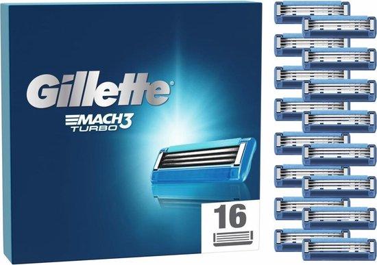 Gillette Mach3 Turbo Scheermesjes Voor Mannen - 16 Navulmesjes