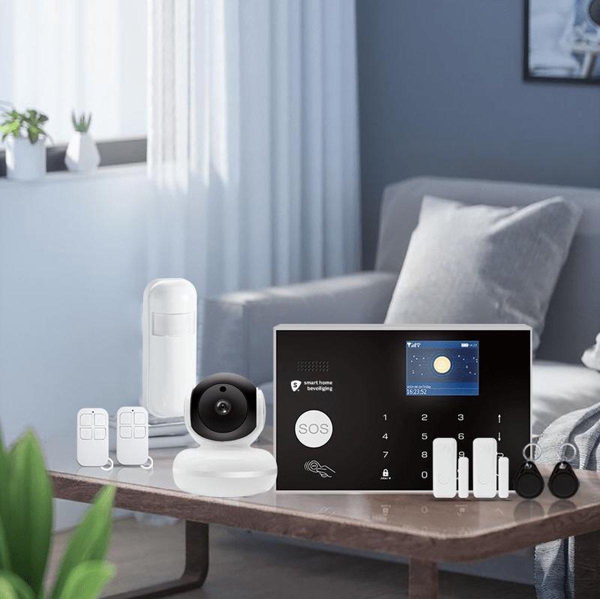 Alarmhub plus alarmsysteem met camera - Slim alarmsysteem met camera en smart home - keypad - uitbreidbaar- thuis modus - wifi - Sirene - Melding op app - SMS, GSM en SIM kaart - Back up batterij - Smart Home Beveiliging